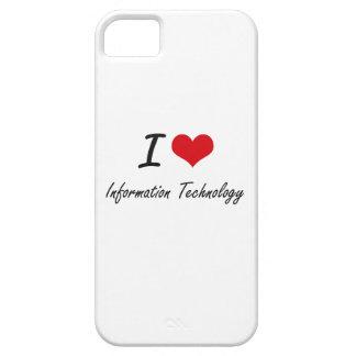 Amo la tecnología de la información iPhone 5 Case-Mate cárcasa