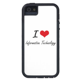 Amo la tecnología de la información iPhone 5 Case-Mate carcasas