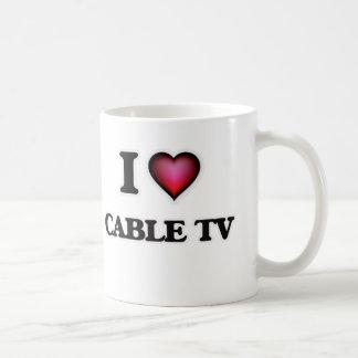 Amo la televisión por cable taza de café