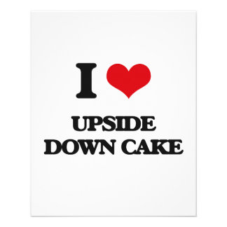 Amo la torta al revés folleto 11,4 x 14,2 cm