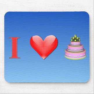 Amo la torta alfombrilla de ratón