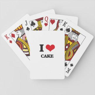 Amo la torta cartas de juego