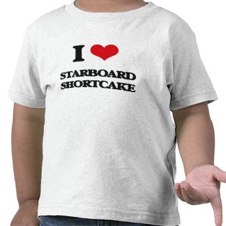 Amo la torta de frutas de estribor camisetas
