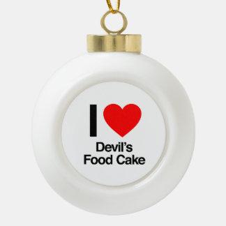 amo la torta de la comida del diablo adornos