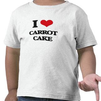 Amo la torta de zanahoria camiseta