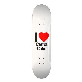 amo la torta de zanahoria monopatín personalizado