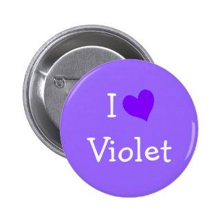 Amo la violeta chapa redonda de 5 cm