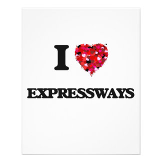 Amo las autopistas folleto 11,4 x 14,2 cm