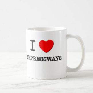 Amo las autopistas taza