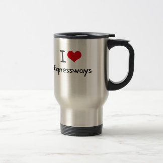 Amo las autopistas taza de café