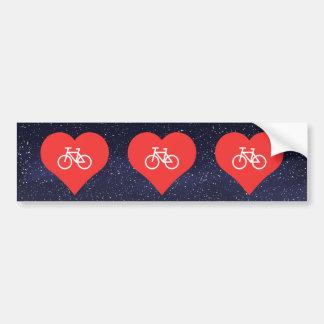 Amo las bicicletas pegatina para coche