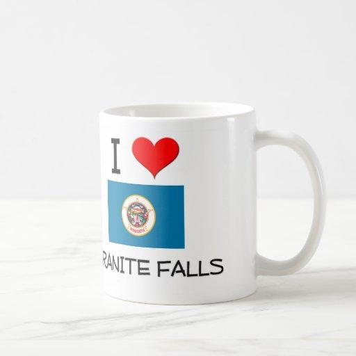 Amo las caídas Minnesota del granito Tazas