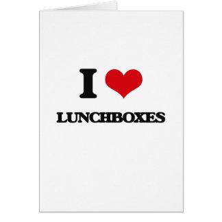 Amo las cajas del almuerzo felicitacion
