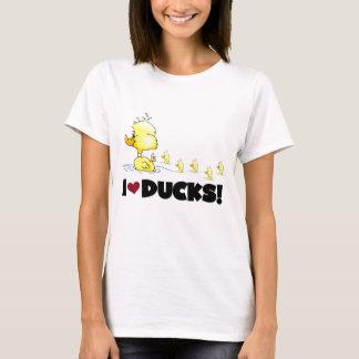 Amo las camisetas y los regalos de los patos