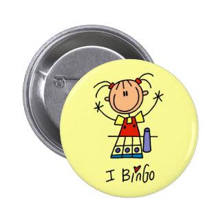 Amo las camisetas y los regalos del bingo chapa redonda 5 cm