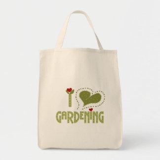 Amo las camisetas y los regalos que cultivan un hu bolso de tela