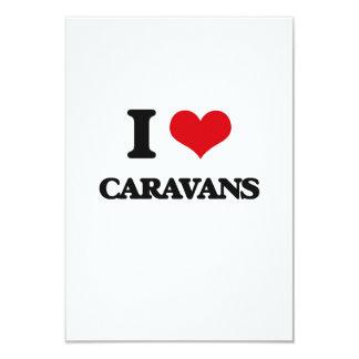 Amo las caravanas invitación 8,9 x 12,7 cm