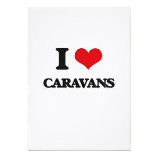 Amo las caravanas invitación 12,7 x 17,8 cm