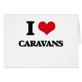 Amo las caravanas tarjetón