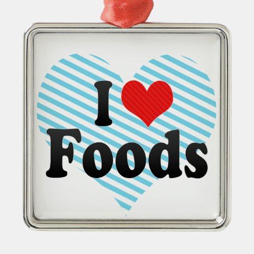 Amo las comidas adorno para reyes