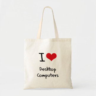Amo las computadoras de escritorio bolsa de mano