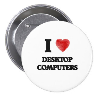 Amo las computadoras de escritorio chapa redonda de 7 cm