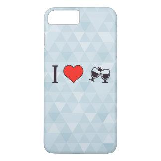 Amo las copas de vino de Buzing Funda iPhone 7 Plus
