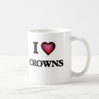 Amo las coronas taza de café