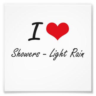 Amo las duchas - lluvia ligera impresiones fotográficas
