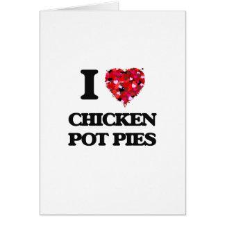 Amo las empanadas calientes del pollo tarjeta