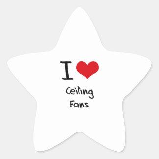 Amo las fans de techo calcomania forma de estrella personalizada