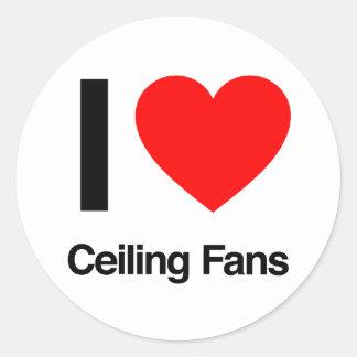 amo las fans de techo pegatina redonda