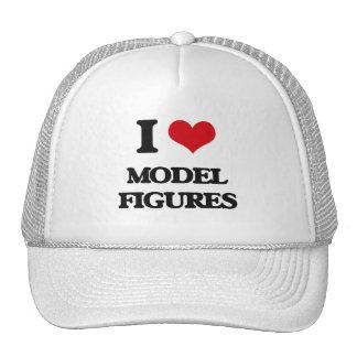 Amo las figuras modelo gorras