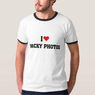 Amo las fotos raras camiseta