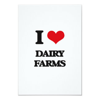 Amo las granjas lecheras invitación 8,9 x 12,7 cm