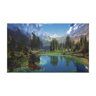 Amo las impresiones de la lona de las montañas roc