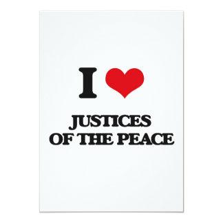 Amo las justicias de la paz invitación 12,7 x 17,8 cm