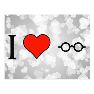 Amo las lentes postal