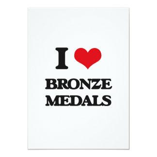 Amo las medallas de bronce invitación 12,7 x 17,8 cm