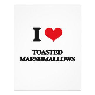 Amo las melcochas tostadas folleto 21,6 x 28 cm