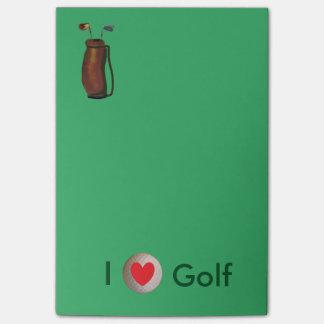 """""""Amo las notas del Poste-it® del golf"""" 4 x 6"""