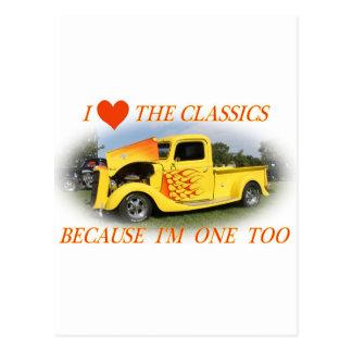 Amo las obras clásicas postal