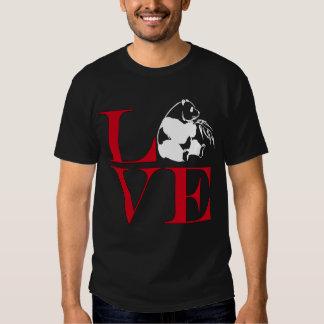 Amo las pandas - camiseta coloreada oscuridad