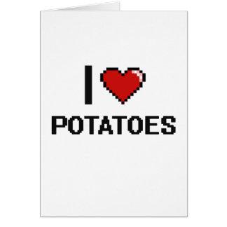Amo las patatas tarjeta de felicitación