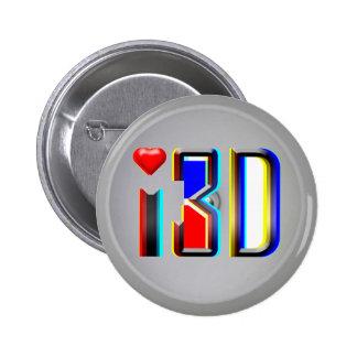 amo las películas 3D Pins