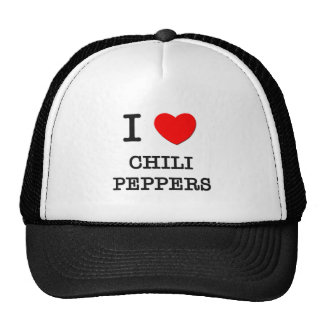 Amo las pimientas de chile gorras