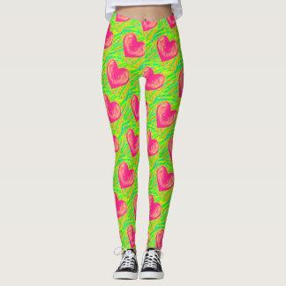Amo las polainas de la sandía leggings