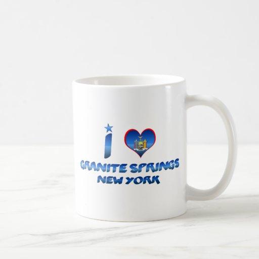 Amo las primaveras del granito, Nueva York Tazas De Café