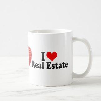 Amo las propiedades inmobiliarias taza de café