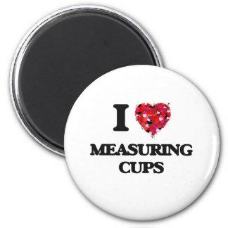Amo las tazas de medición imán redondo 5 cm